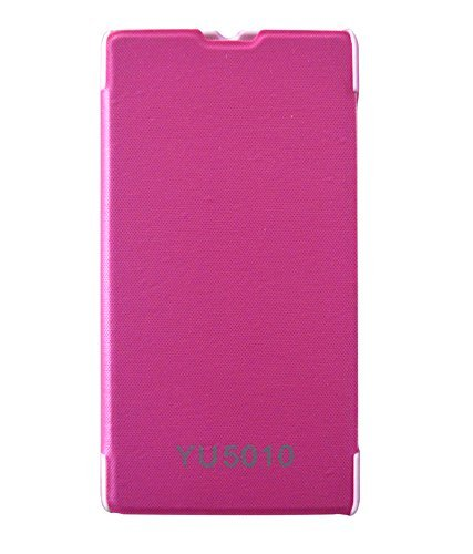 Red Qube flip cover for Yu Yuphoria - PINK