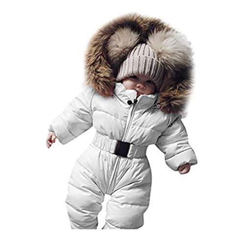 Robemon✬Hiver Blouson Manteau Fourrure Chaud Enfant Garçon Fille Doudoune à Capuche Épaissi Manches Longues Belle bébé Ski Salopettes Outwear