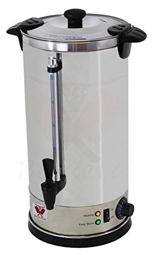 Beeketal-BGWK10-Gastro-Glhweinkocher-10-Liter-Volumen-mit-Fllstandskala-Zapfhahn-und-stufenlos-regelbarem-Thermostat-30-110-C-Profi-Edelstahl-Wasserkocher-mit-1600-Watt-Leistung