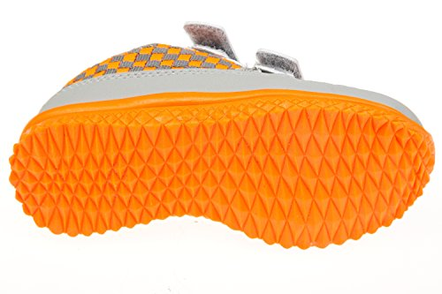 Gibra ® enfant avec fermeture velcro gris/orange taille 25–36 Gris - Grau/Orange