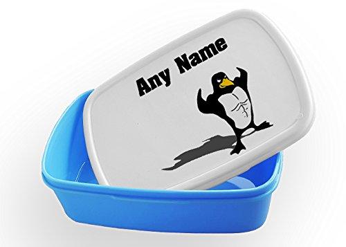 Lunchbox mit Pinguin-Motiv, personalisierbar, Geschenk für Kinder, Geschenk für Jungen und Mädchen, Geschenk für Kinder, Lunchtasche - Lunch-box Pinguin