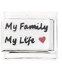 Abalorio «My Family My Life» diseño italiano clásico para pulsera Nomination