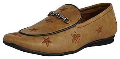 LeeGraim Men's Beige Loafers - 6 UK, lg1140-6