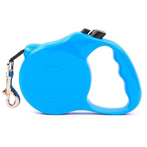 CUGLB Hundeleine Einziehbar Roll-Leine Automatikleine 5m Retractable Gurt Dog Leash für Katze Klein Groß Hund bis 15kg (5M, Blau)