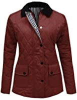 CANDY FLOSS LADIES QUILTED PADDED BUTTON ZIP JACKET COAT TOP PLUS SIZES 8-20