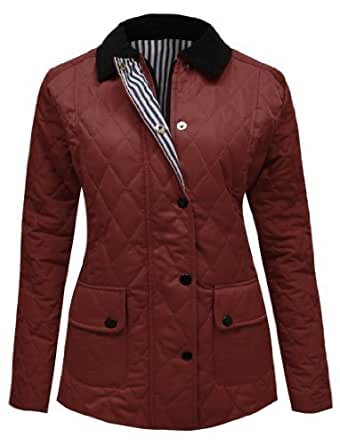 CANDY FLOSS NEW WOMENS LADIES QUILTED PADDED JACKET WINE SIZES 8