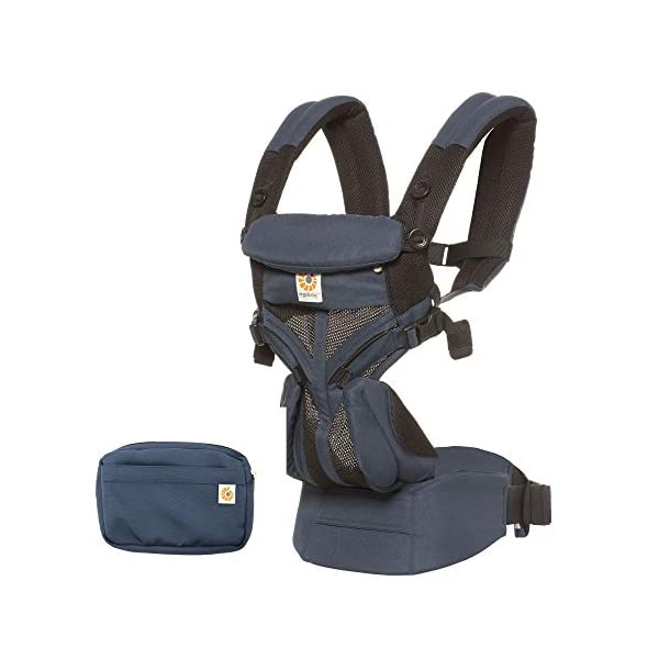 Ergobaby Omni 360 Cool Air Mesh, Raven Ergobaby Baby carrier for new-born - adapts to your growing baby from birth to toddler (7-45lbs). 4 carry positions: front-inward, back, hip, and front-outward Comfort - exceptional lower back comfort with padded lumbar support waist belt & extra padded shoulder straps with the option to wear 2 ways: crossed or backpack style Cool & breathable - our cool air mesh baby carriers are made with soft and durable mesh fabric that provides our renowned ergonomic support for baby 2