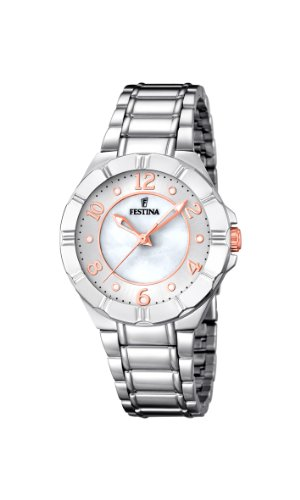 Festina Women's Quartz Watch with Black Dial Analogue Display Quartz Stainless Steel F16726/1