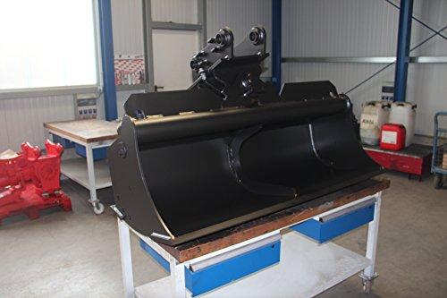 Preisvergleich Produktbild Grabenräumlöffel starr / Tieflöffel / Baggerschaufen / Baggerlöffel / Löffel / Minibagger Löffel / Klasse 0 mit Aufnahme / Schnittbreite 600