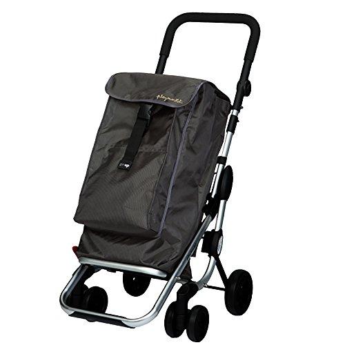 Playmarket Go Up - Carro de compras, capacidad 39,5 l, tapa regulable, bolsa térmica de 6 l, color gris marengo
