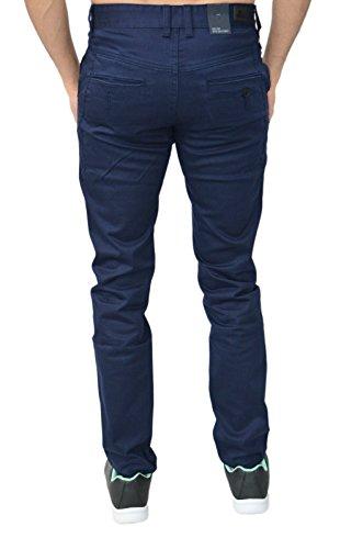 Homme Design Eto Jeans Slim Fuseau Pantalon Chino Pantalon 4 Couleurs Bleu Marine