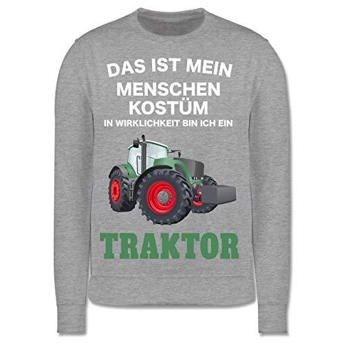Neun Kostüm Menschen - Shirtracer Karneval & Fasching Kinder - Das ist Mein Menschen Kostüm in echt Bin ich EIN Traktor - 9-11 Jahre (140) - Grau meliert - JH030K - Kinder Pullover