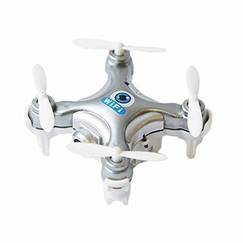 Preisvergleich Produktbild die cx-10w 4ch 2.4ghz ios / android - app wifi romote kontrolle rc fpv echtzeit - mini - helikopter - drohne quadcopter ufo mit 0.3mp hd - kamera, 6 - kreisel - silber