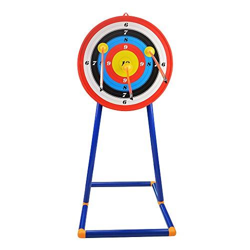 ZSHJG Zielscheibe mit Ständer für Bogenschützen Kinder Jugend Zielscheibe + Ständer für Gartenspiele im Freien Praxis Training (Type 2)