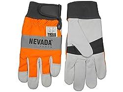 Nevada Schnittschutz Handschuhe Größe L / 10 - Forsthandschuh für Motorsäge/Kettensäge