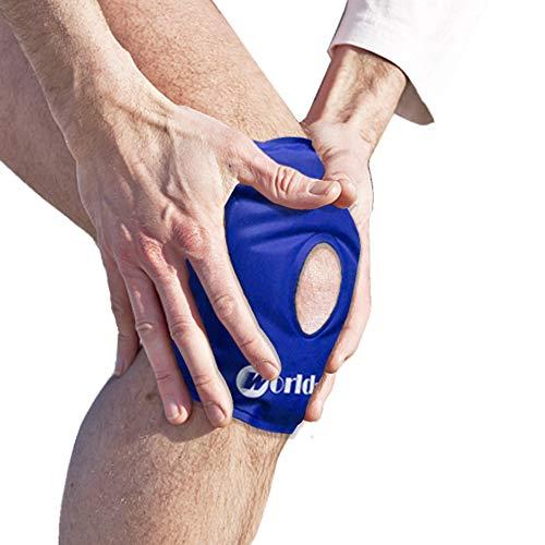 Rodilla Paquete Gel Hielo Reutilizable Para alivio rápido del dolor, Bolsa de Gel para Aplicar Frío y Calor Con Banda de Compresión Para Lesiones en la Rodilla