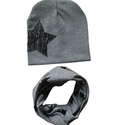 bambini bambino bebè cappello sciarpa ragazzi ragazze sciarpa bambino sciarpa Cappelli Berretti (Grigio)