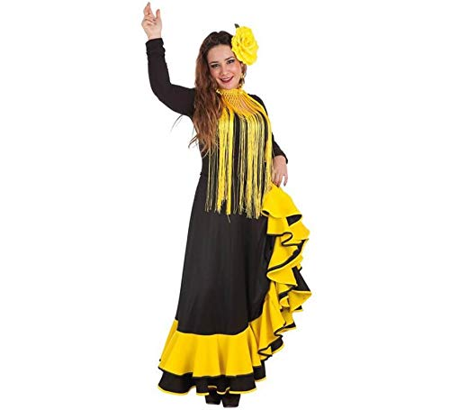 LLOPIS - Disfraz Adulto Falda rociera Amarilla