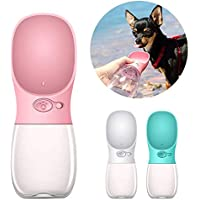 Petlicious & More Dog Water Bottle for Walking or Outdoor Travel with Bowl Dispenser, Antibacterial Portable Leak Proof…