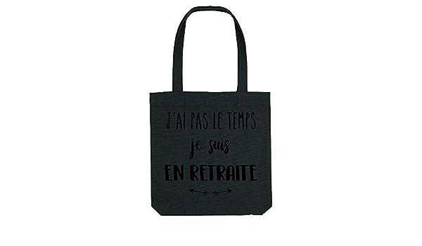 My-Kase tote/_bag GS Coton RETRAITE-PAS-LE-TEMPS