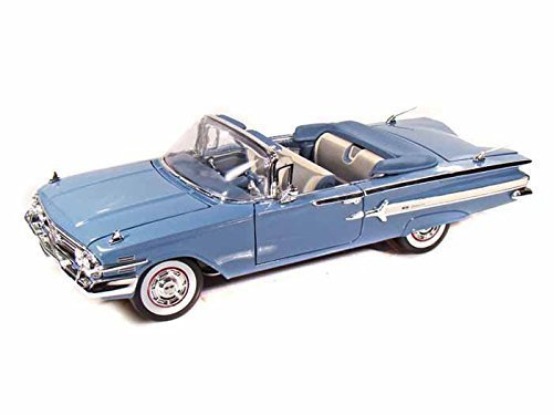 1960-chevy-impala-convertible-1-18-blue-by-chevrolet