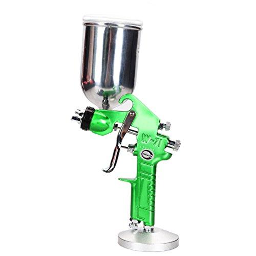 Preisvergleich Produktbild Valianto W71-G Spritzpistole Farbsprühsystem Lackierpistole Gravitation Druckluft Grün 1.8mm