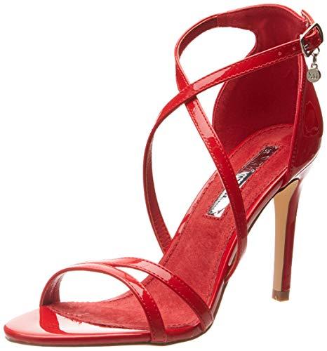 XTI 32046, Scarpe col Tacco con Cinturino Dietro la Caviglia Donna, Rosso Rojo, 38 EU