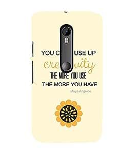 EPICCASE creative quotes Mobile Back Case Cover For Moto X Force (Designer Case)