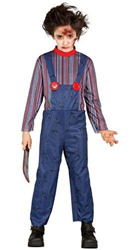 KINDERKOSTÜM - KILLER PUPPE - Größe 110-115 cm ( 5-6 Jahre ), Chucky Mörderpuppe