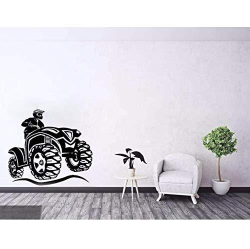 r Kunst Wandaufkleber Neue Stil Atv Motorrad Bike Sport Kinder Teens Jungs Jungen Schlafzimmer Wanddekor Garage Aufkleber Tapeten 62Mx56Cm ()