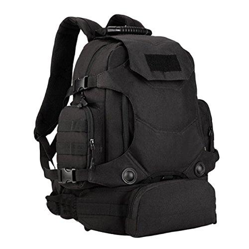 40 Liter Mit Einer Kombination Aus Drei Freien Multifunktions Rucksack Schultertaschen Taschen Reiten Bergsteigen Taschen Tarnung,WolfBrown Black