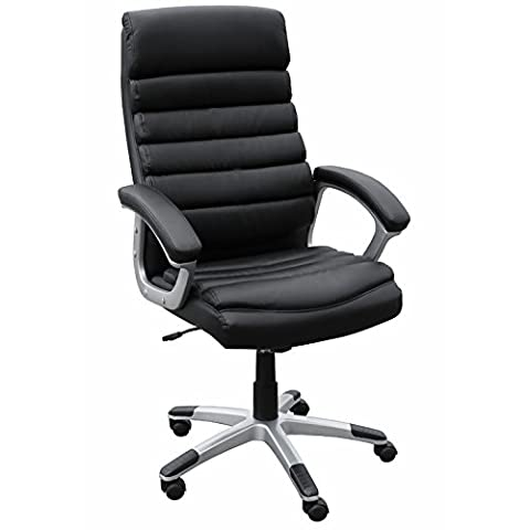 AMSTYLE office chair VALENCIA reference leatherette black desk chair Design
