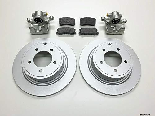 Raybestos Nty 2x pinza freno posteriore, freno a disco & pastiglie Caliber PM 2007-2012302mm dischi