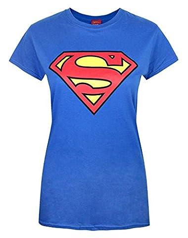 Official Superman Shield Logo Women's T-Shirt - Taille M