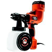 Black & Decker HVLP200-QS - Pistola eléctrica de pintura (400 W), color negro y naranja