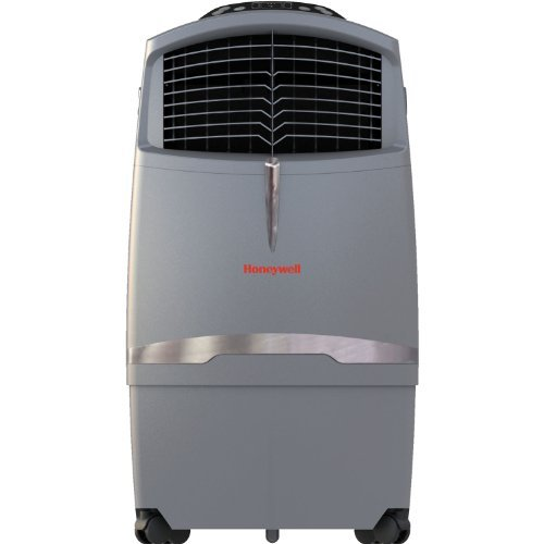 Honeywell CO30XE 63 Pt. Indoor/Outdoor Portable Evaporative Air Cooler with Remote Control, Grey