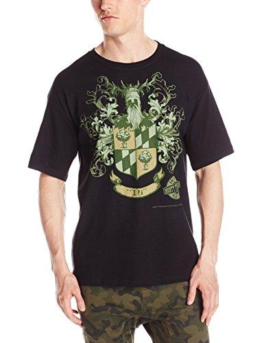 Liquid Blue Herren T-Shirt Monty Python Knights of NI Wappen - Schwarz - Groß -