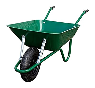 Walsall Wheelbarrows 85 Ltr Easiload Wheelbarrow Heavy Duty Builders Barrow in a Box - Pneumatic Wheel