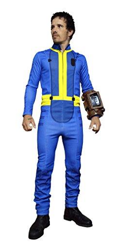 DAZCOS Herren Premium-US-Größe Erwachsene Sole Survivor Nate Jumpsuit Kostüm Männer XX-Large Blau (Vault Anzug Kostüm)