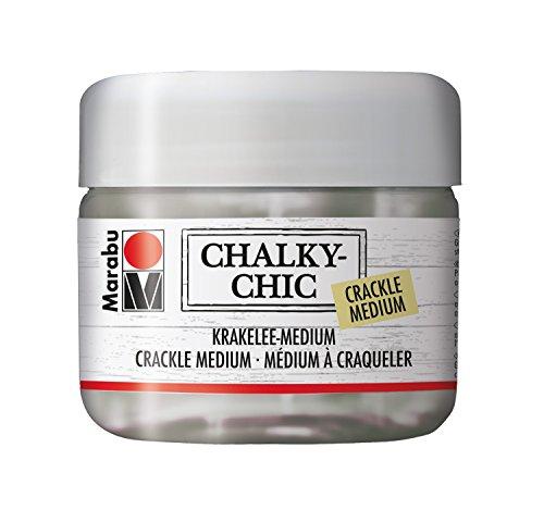 Marabu 26225840 - Chalky - Chic Krakelee Medium, 225 ml, transparent