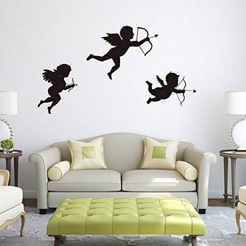 Yzybz Personalisierte Amor Engel Wandaufkleber Wohnzimmer Kinderzimmer Schlafzimmer Dekor Abziehbilder Kunst Wandbild Baby Kinderzimmer Aufkleber