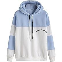 MRULIC Damen Hoodies Frauen Langarm Hoodie Sweatshirt Jumper mit Kapuze  Pullover Stilvolle Kleidung Elegante Bluse e17b773ec8