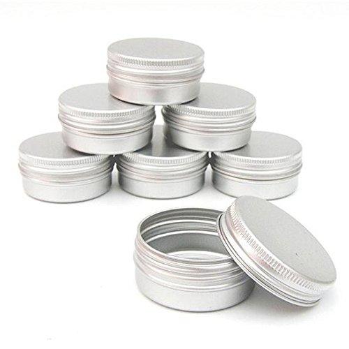 RETYLY Packung mit 10 Balsam Nail Art kosmetische Creme Make-up Topf Lip Jar Zinn Fall Container Schraube Kapazitaet (leer) Fuer DIY Kosmetik/Beauty-Produkte (30 ml) (Hausgemachte Beauty-produkte)