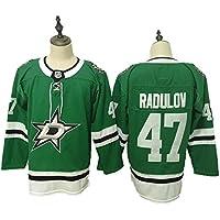 Yajun Mats Zuccarello#36/Alexander Radulov#47 Dallas Stars Camisetas Hockey Jersey sobre Hielo NHL Hombre Ropa Respirable T-Shirt de Manga Larga,47,M/50