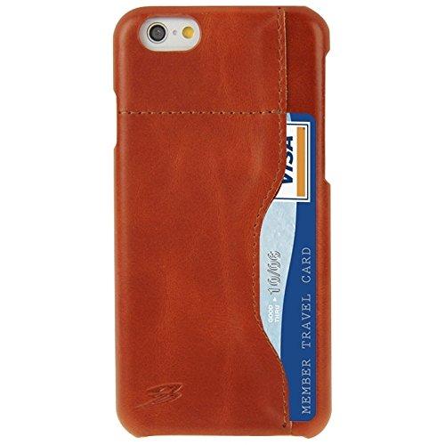 Wkae Case Cover FADDIST Gewachste echte Kuh-Leder-rückseitige Abdeckung Fall mit Kartenschlitz für iPhone 6 & 6S ( Color : Red ) Brown