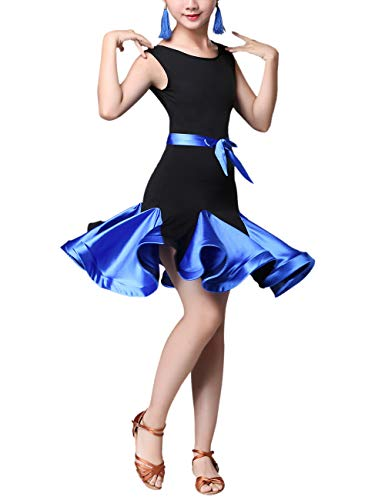 SPDYCESS Lateinkleid Tanz Kleider Mode Dancewear - Rumba Tango Salsa Performance Kleidung Ballsaal Kostüm Party Karneval Prinzessin Rock Kleid ()