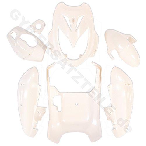 VERKLEIDUNG KOMPLETT in UNLACKIERT z.B.passend für BENZHOU YIYING YY50QT-6 A YY125T-6 - FLEX TECH FUN 50 - BAOTIAN BT49QT-12 BT125T-12 REBEL REX IMOLA 50 u.z.T.a. HYOSUNG PEUGEOT FLEX TECH ERING ADLY BENERO CHINA ROLLER GY6