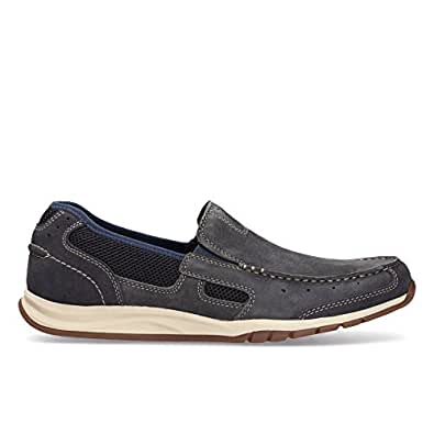 Clarks Men's Ramada Spanish Blue Leather Loafers and Mocassins - 12 UK
