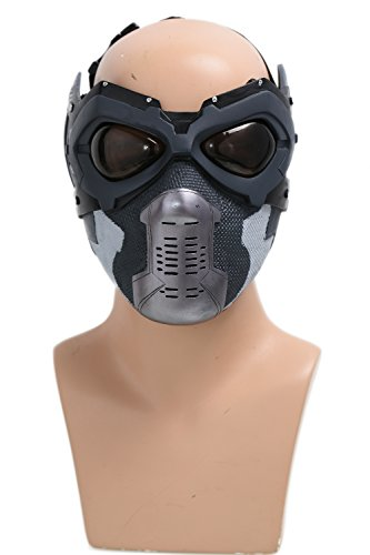 Winter Kostüme Erwachsene Soldier (Soldat Maske Cosplay Bucky Volles Gesicht Cosplay Kostüm Erwachsene Herren Halloween Fancy Dress Merchandise)
