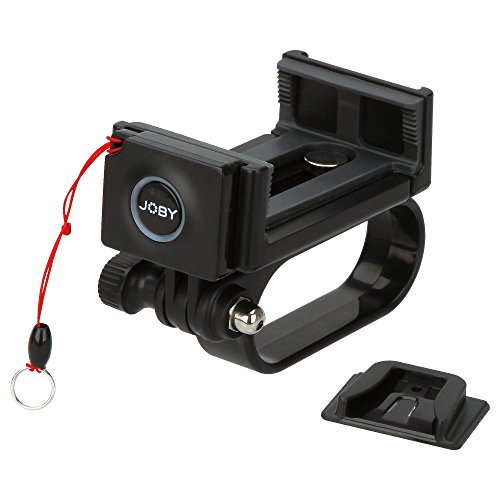 Joby GripTight POV, Supporto per Scattare Fotografie per Smartphone e Action Camera, Telecomando Bluetooth Impulse Integrato, Nero